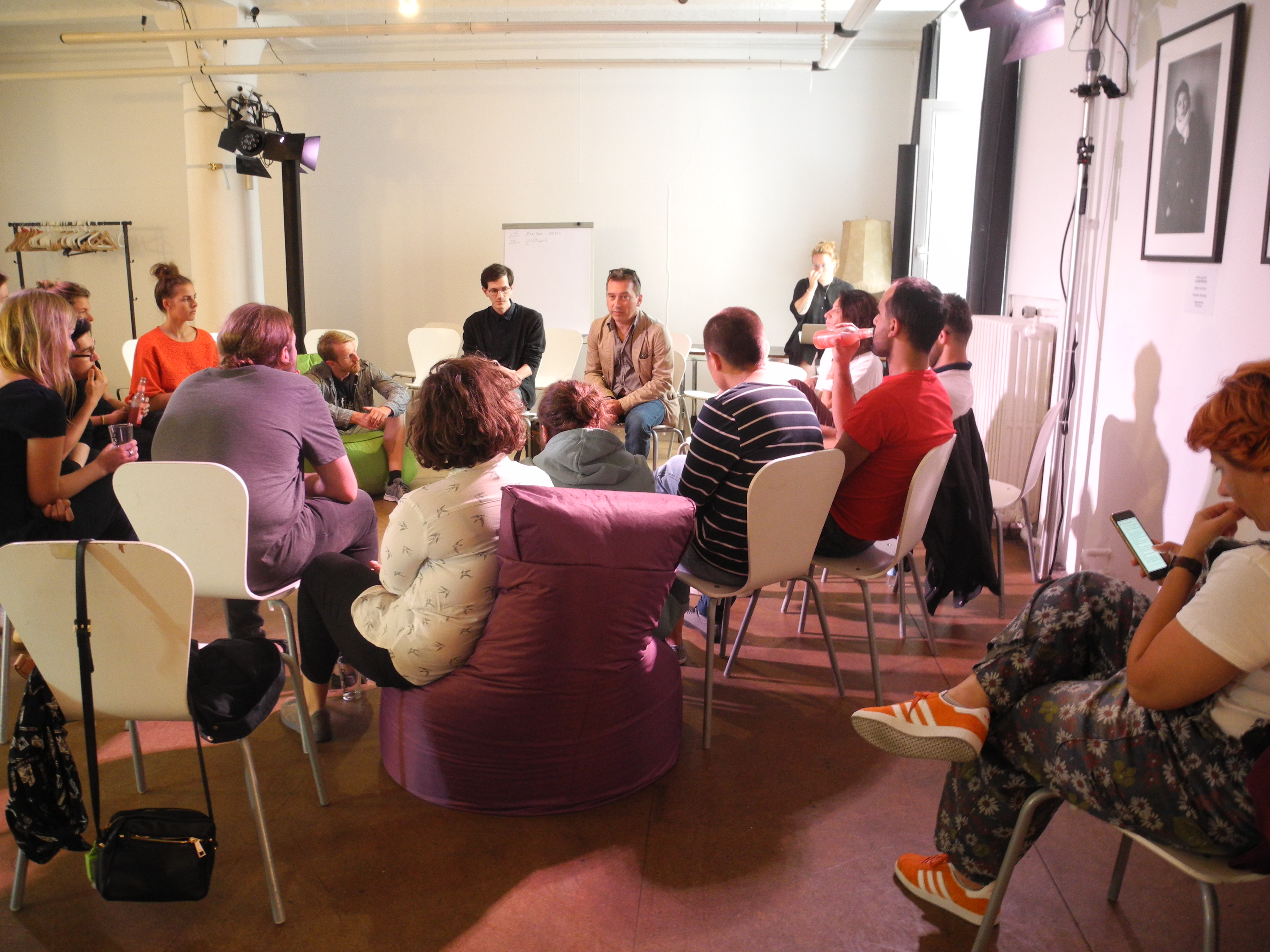 "Workshop ""Doing Literature"" beim Literaturfestival Berlinisi © Angie Martiens"