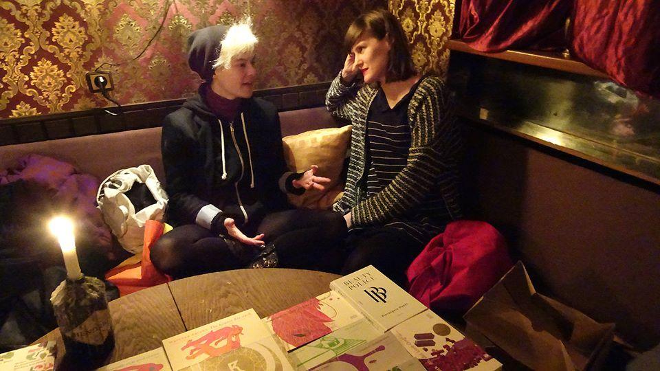Daniela Seel von KOOKread im Gespräch mit Katharina Schultens © Alexander Gumz