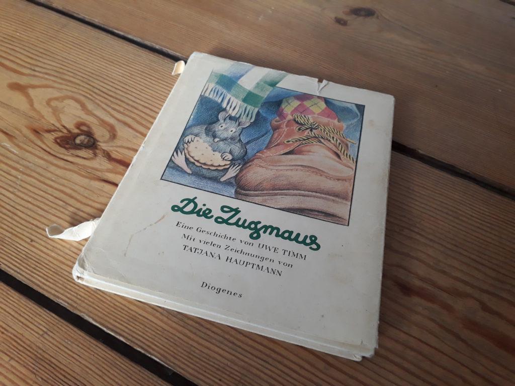 Uwe Timm: Die Zugmaus. Diogenes 1981 © Leonie Hohmann.