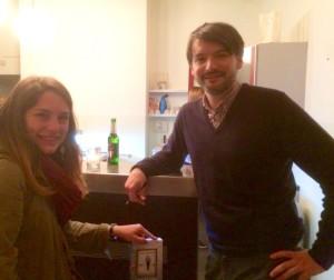 """Saša Stanišić und Ann-Kathrin bei der Buchvorstellung von """"Fallensteller"""" ©litaffin"""