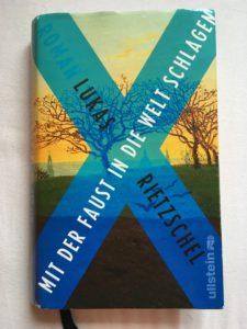 """Buchcover """"Mit der Faust in die Welt schlagen"""" von Lukas Rietzschel."""