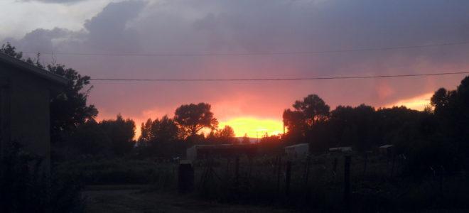 Am Himmel die Sonne