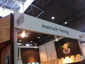 Der Stand vom mairisch Verlag auf der Leipziger Buchmesse: D 116